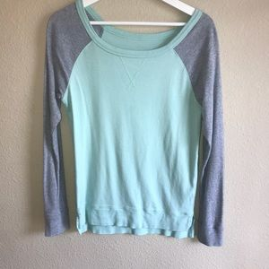 The Limited Mint Green & Heather Gray Long Sleeve